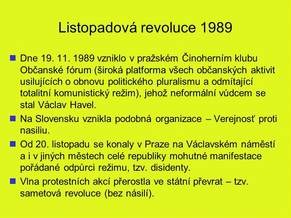 Listopadová revoluce 1989