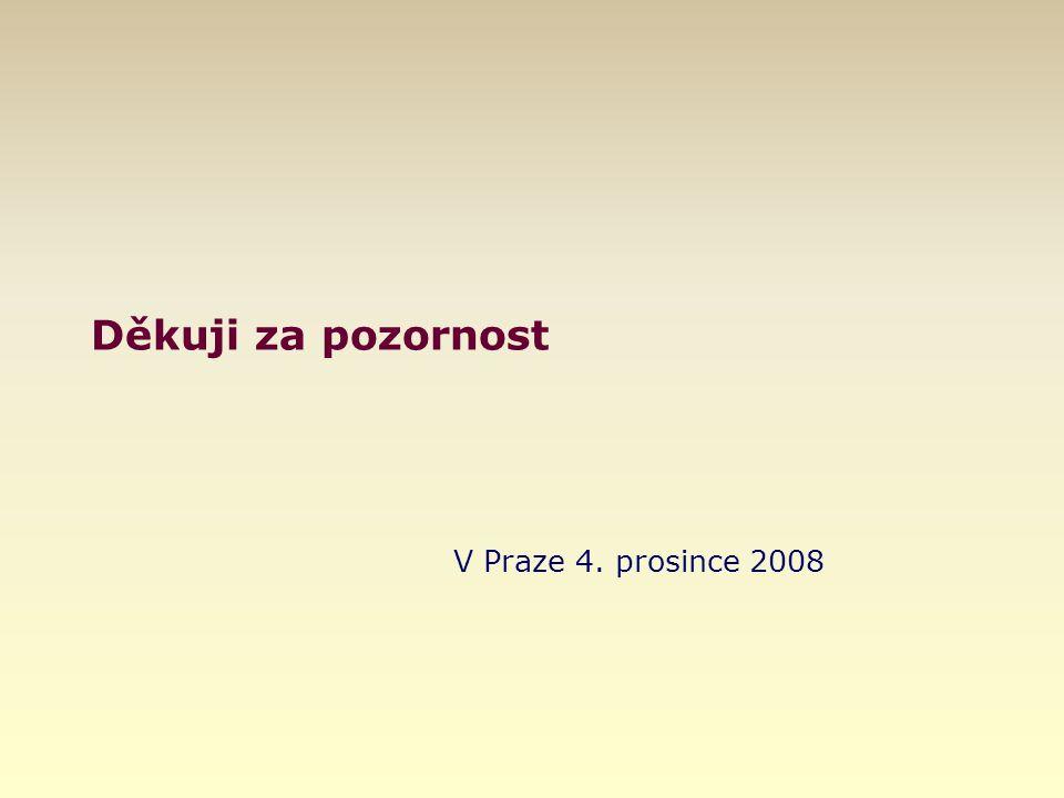 Děkuji za pozornost V Praze 4. prosince 2008