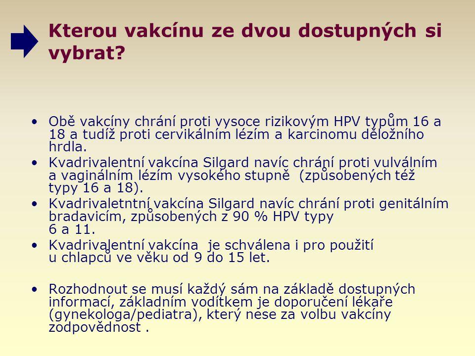 Kterou vakcínu ze dvou dostupných si vybrat