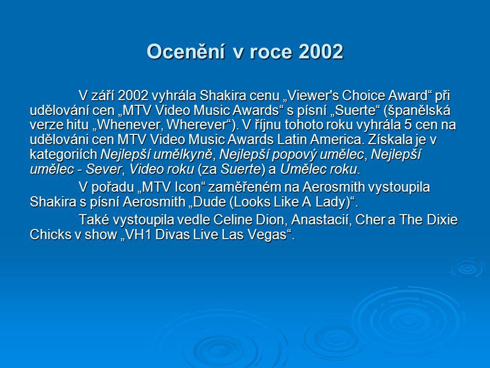 Ocenění v roce 2002