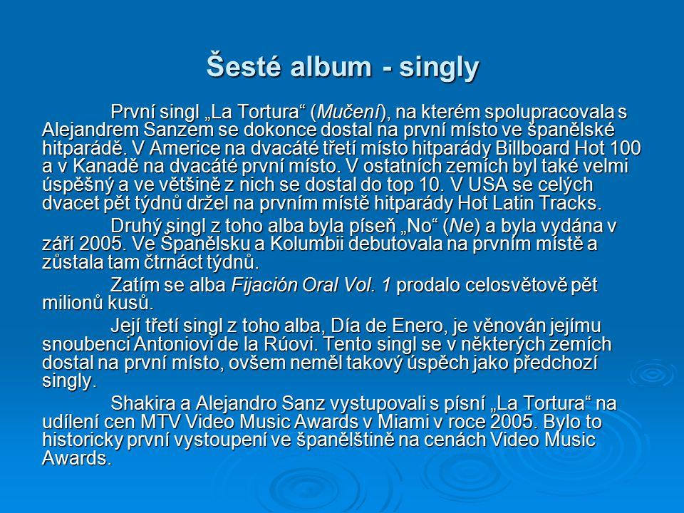 Šesté album - singly
