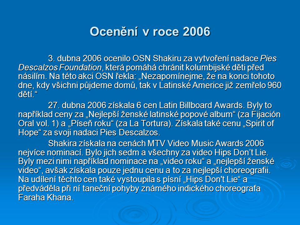 Ocenění v roce 2006