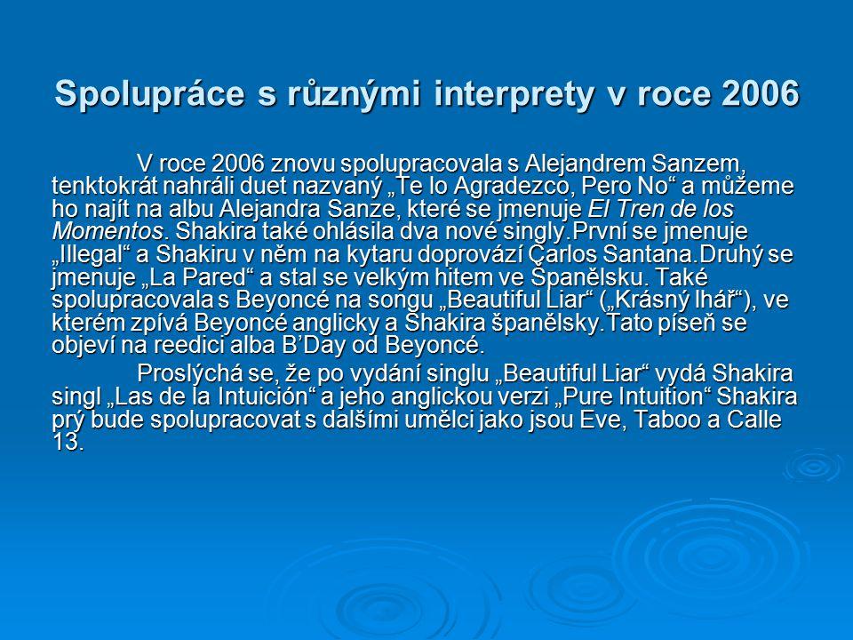 Spolupráce s různými interprety v roce 2006