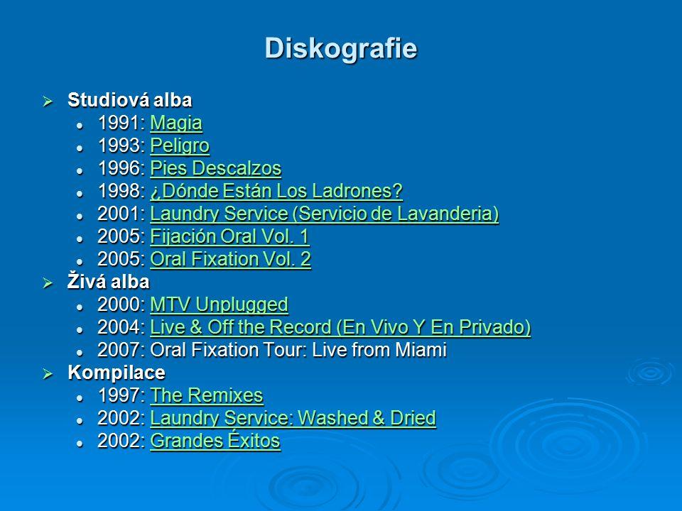 Diskografie Studiová alba 1991: Magia 1993: Peligro