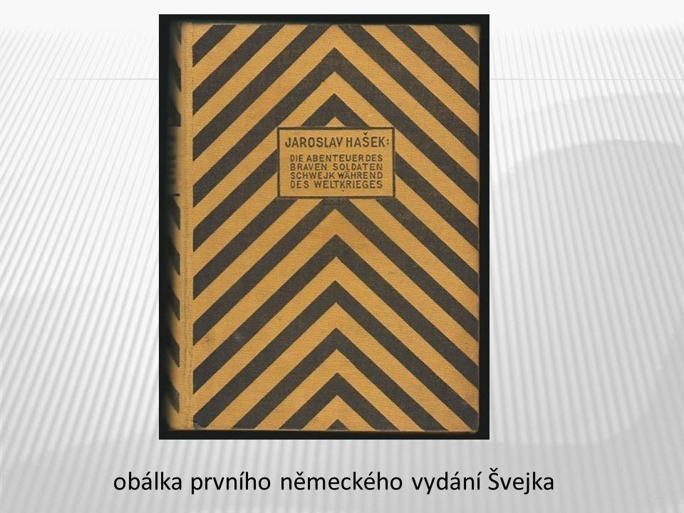 obálka prvního německého vydání Švejka