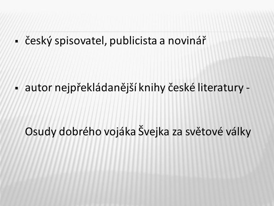 český spisovatel, publicista a novinář