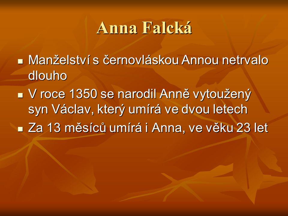 Anna Falcká Manželství s černovláskou Annou netrvalo dlouho