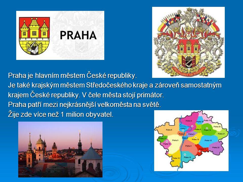 Praha je hlavním městem České republiky.