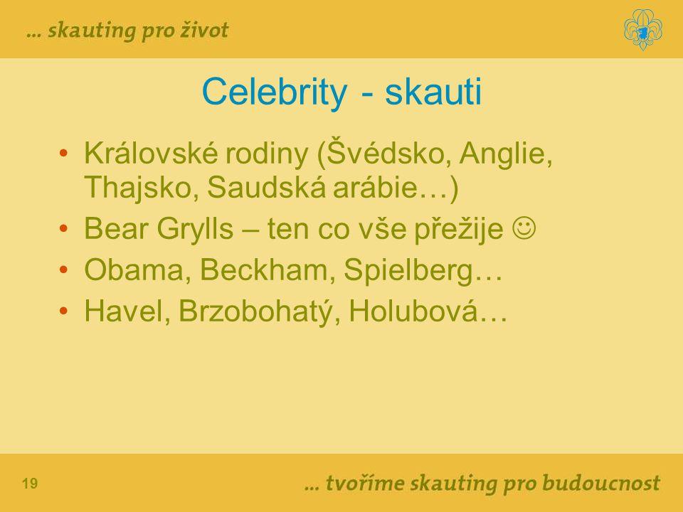 Celebrity - skauti Královské rodiny (Švédsko, Anglie, Thajsko, Saudská arábie…) Bear Grylls – ten co vše přežije 