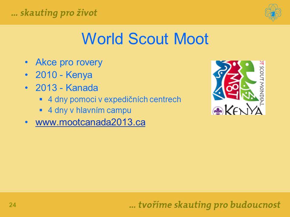World Scout Moot Akce pro rovery 2010 - Kenya 2013 - Kanada