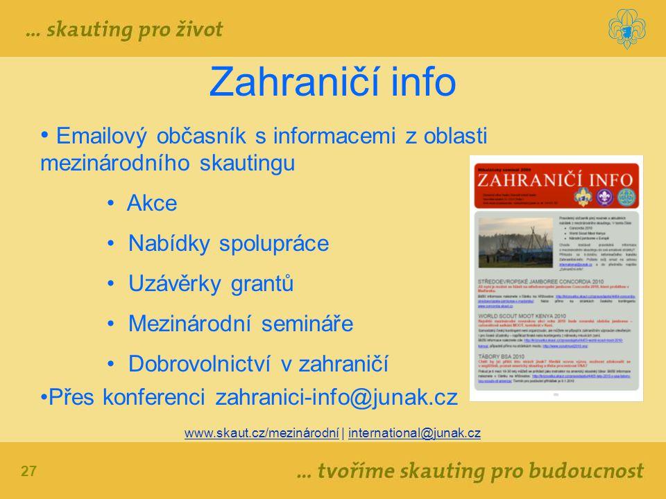 www.skaut.cz/mezinárodní | international@junak.cz