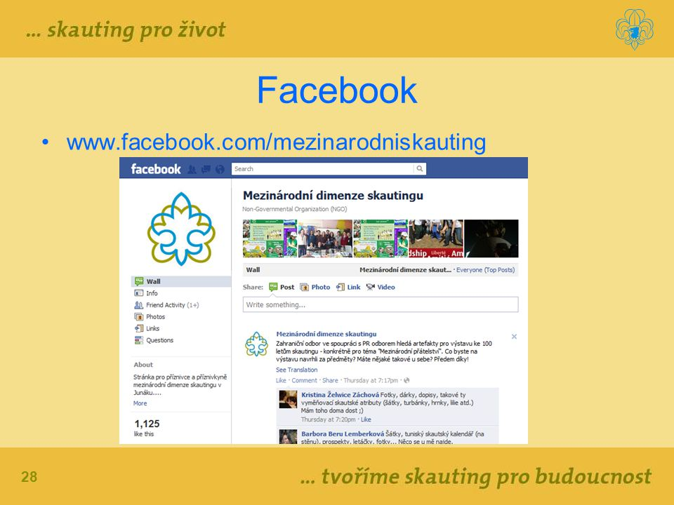 Facebook www.facebook.com/mezinarodniskauting