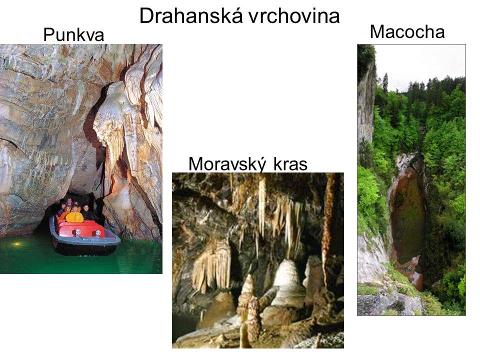 Drahanská vrchovina Punkva Macocha Moravský kras