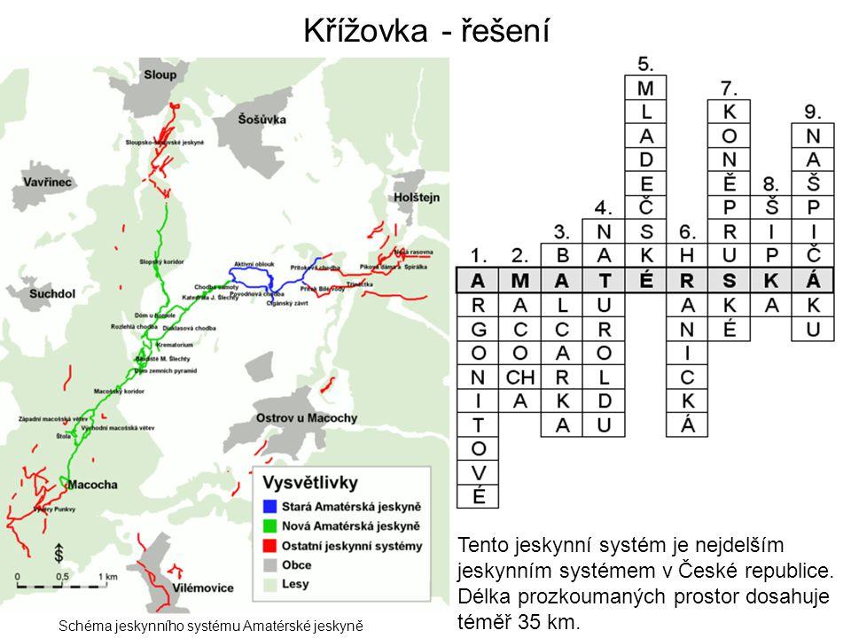 Křížovka - řešení Tento jeskynní systém je nejdelším