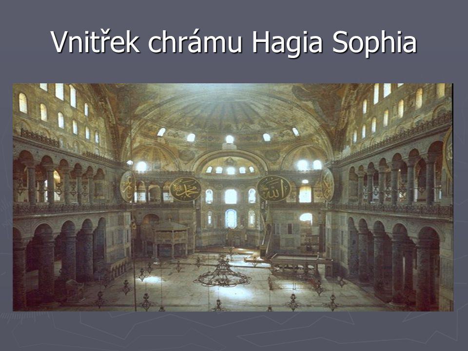 Vnitřek chrámu Hagia Sophia