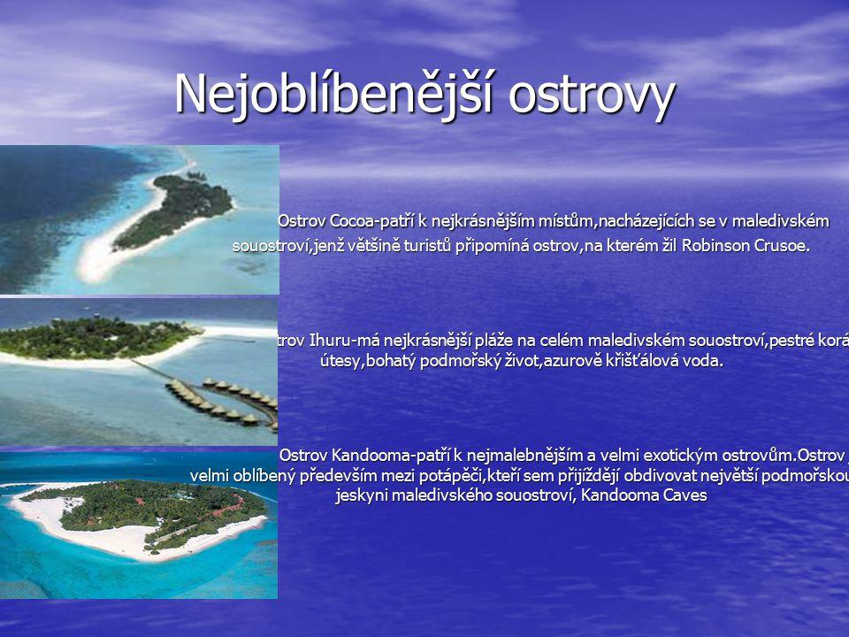 Nejoblíbenější ostrovy