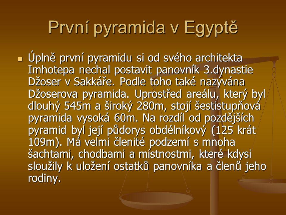 První pyramida v Egyptě