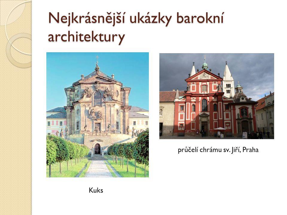 Nejkrásnější ukázky barokní architektury