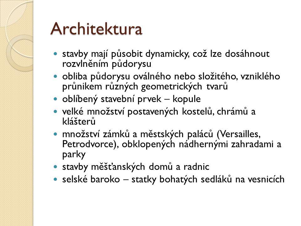 Architektura stavby mají působit dynamicky, což lze dosáhnout rozvlněním půdorysu.