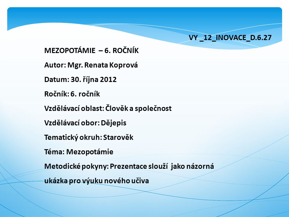 VY _12_INOVACE_D.6.27