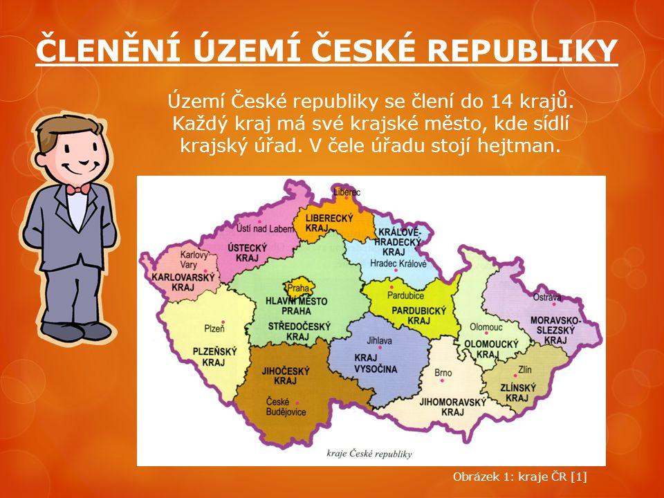ČLENĚNÍ ÚZEMÍ ČESKÉ REPUBLIKY