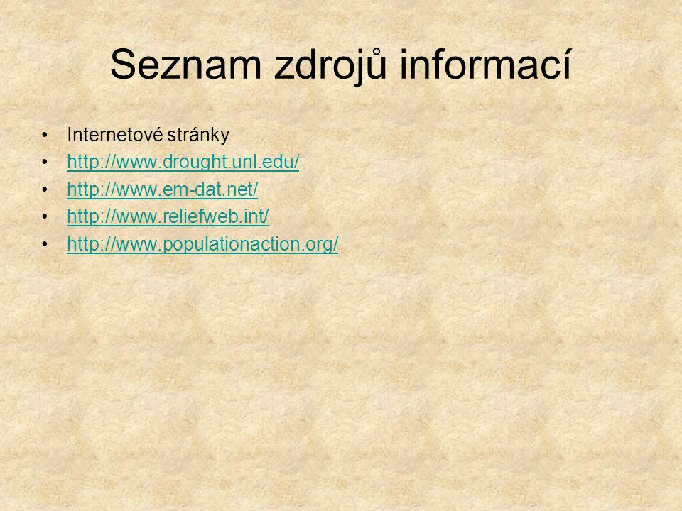 Seznam zdrojů informací