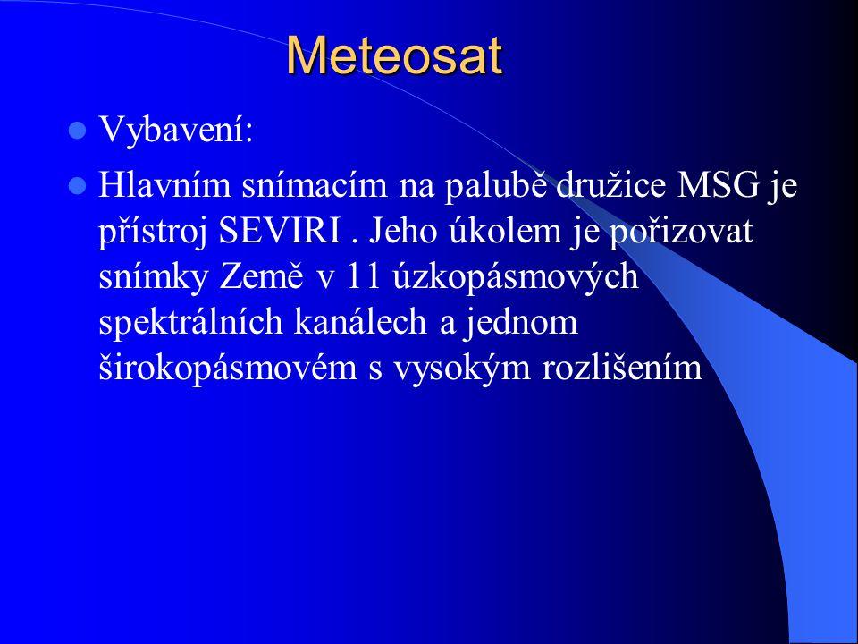 Meteosat Vybavení: