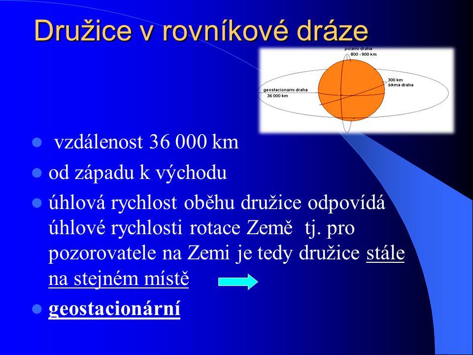 Družice v rovníkové dráze