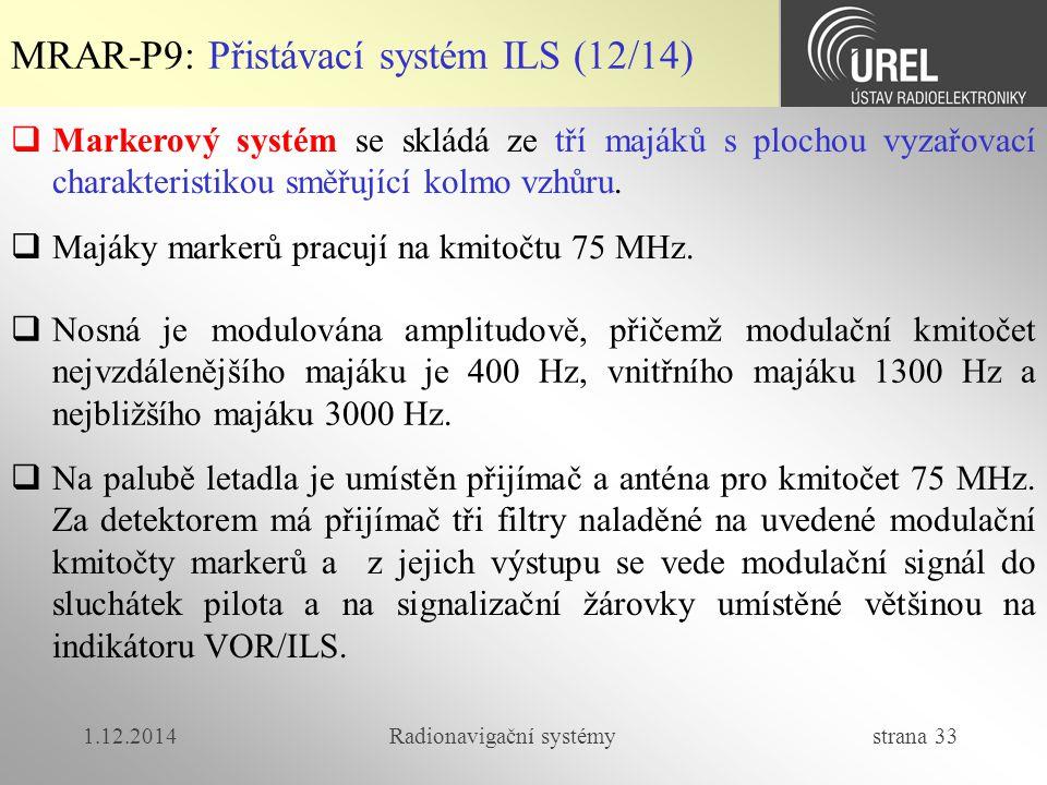 Radionavigační systémy