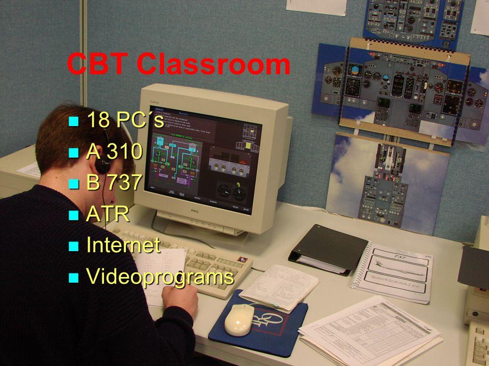 CBT Classroom 18 PC´s A 310 B 737 ATR Internet Videoprograms