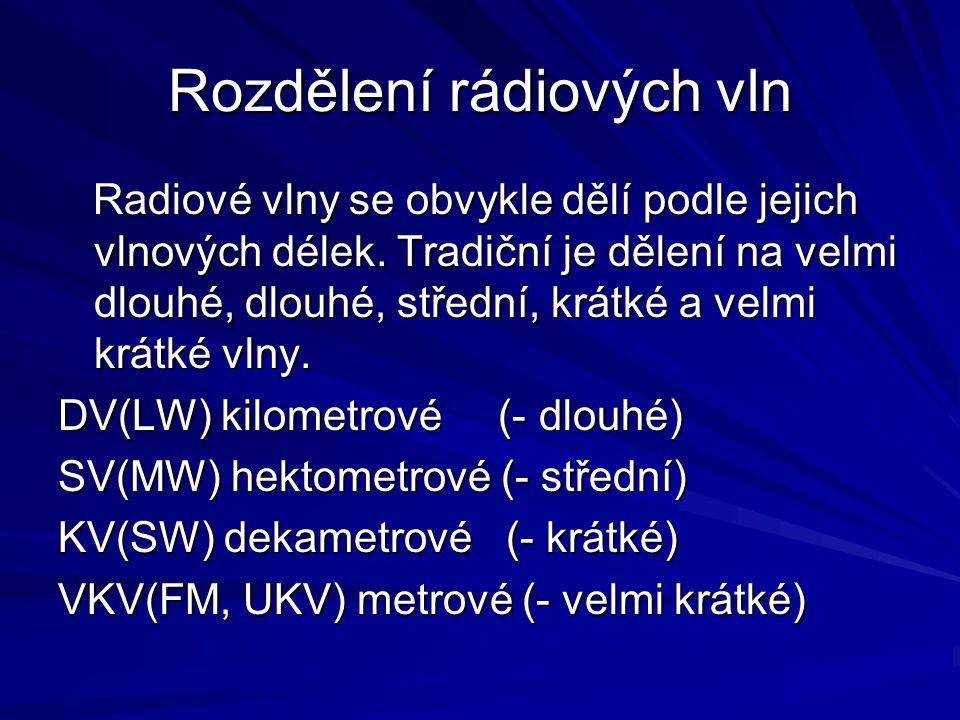 Rozdělení rádiových vln