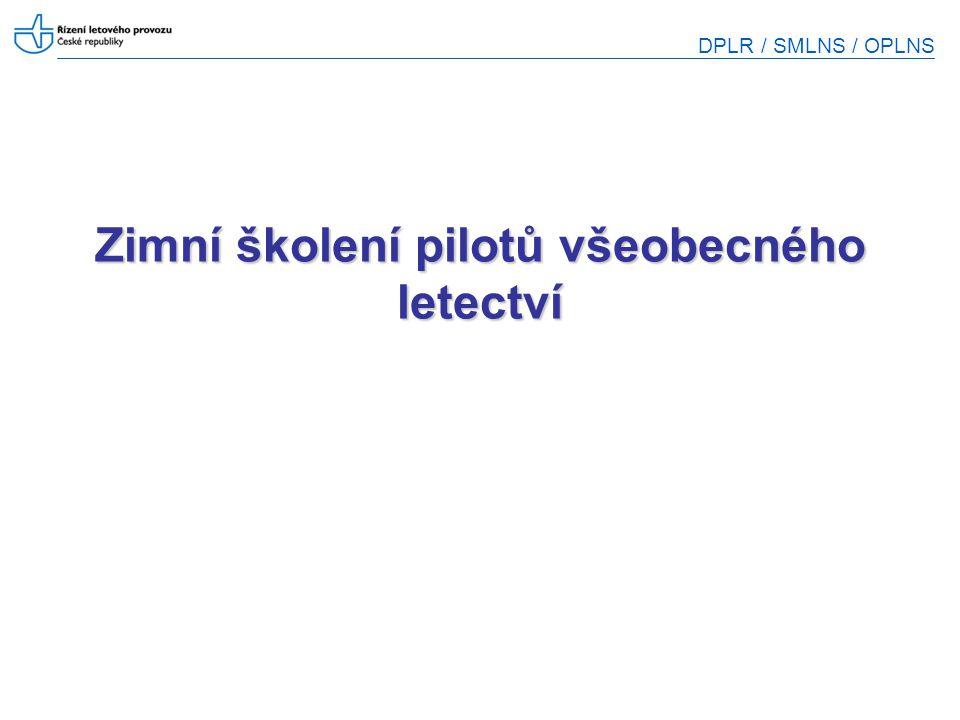 Zimní školení pilotů všeobecného letectví