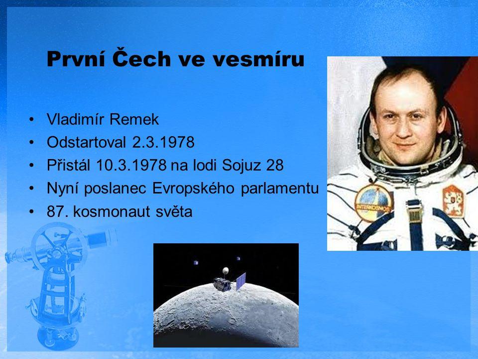 První Čech ve vesmíru Vladimír Remek Odstartoval 2.3.1978