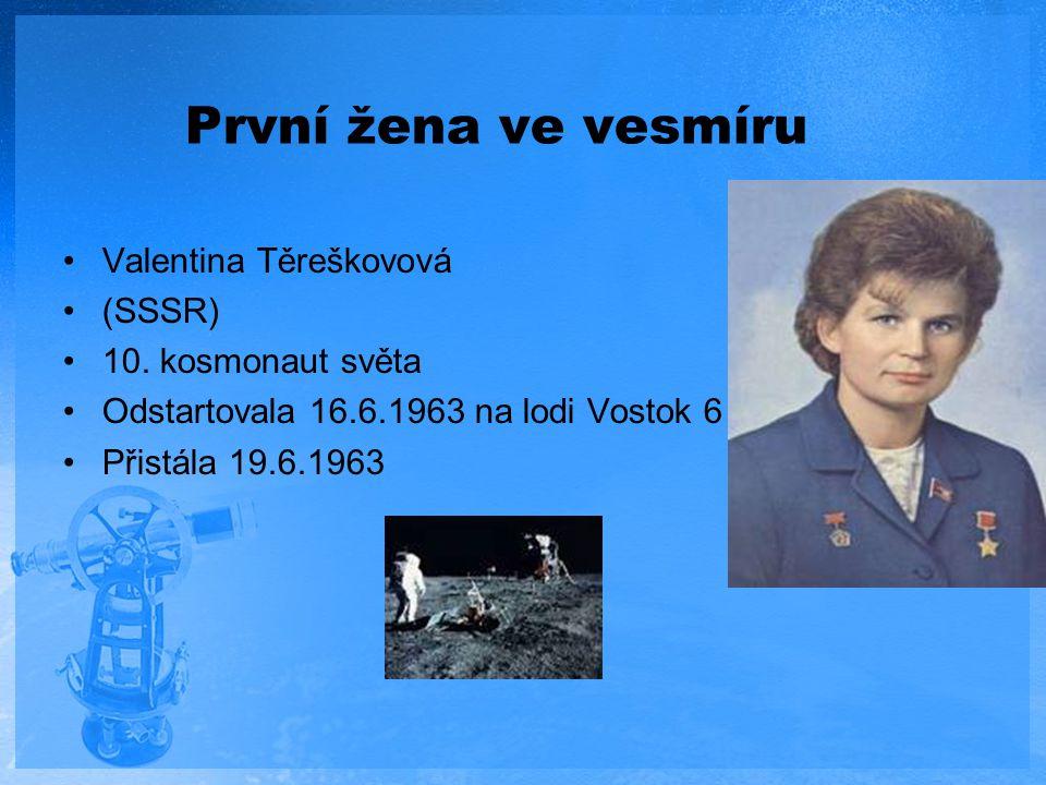 První žena ve vesmíru Valentina Těreškovová (SSSR) 10. kosmonaut světa