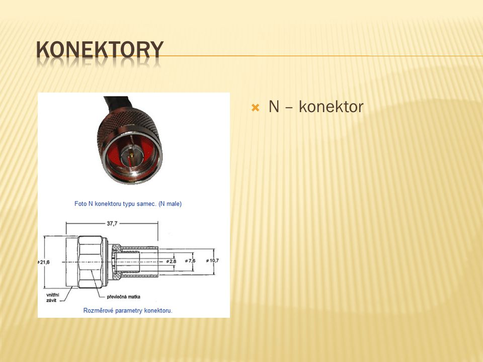 Konektory N – konektor