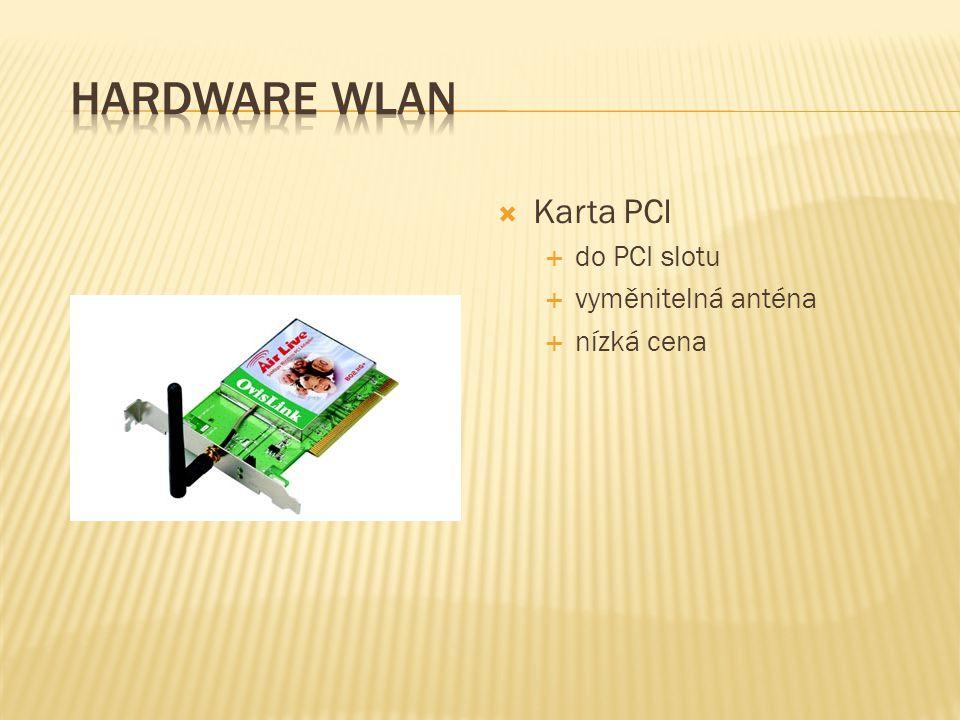 Hardware WLAN Karta PCI do PCI slotu vyměnitelná anténa nízká cena