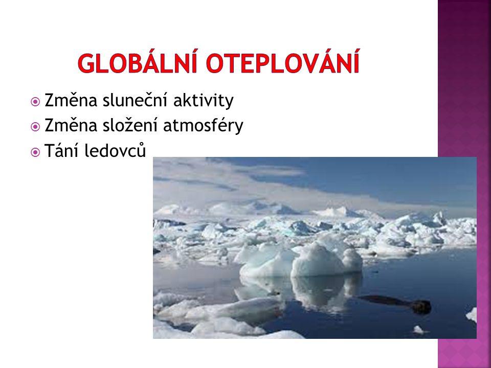 Globální oteplování Změna sluneční aktivity Změna složení atmosféry