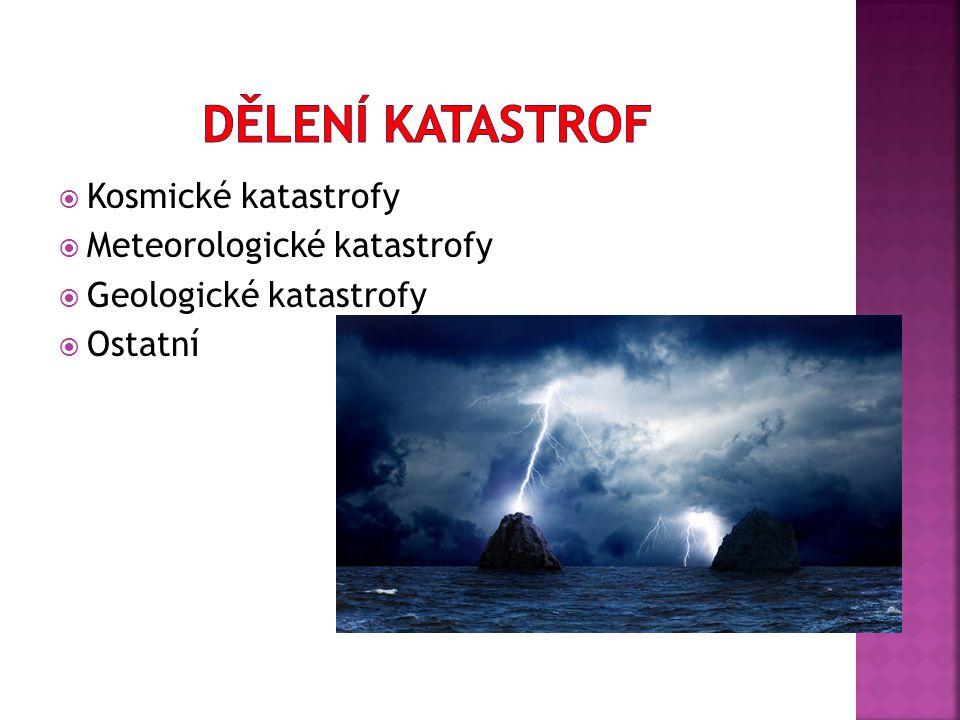 Dělení katastrof Kosmické katastrofy Meteorologické katastrofy