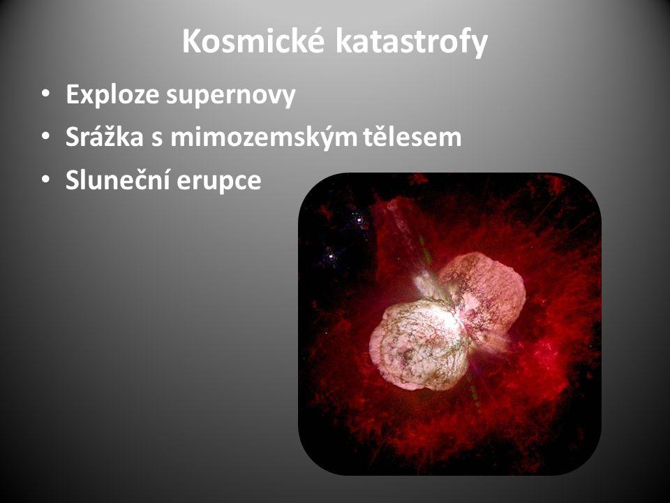 Kosmické katastrofy Exploze supernovy Srážka s mimozemským tělesem