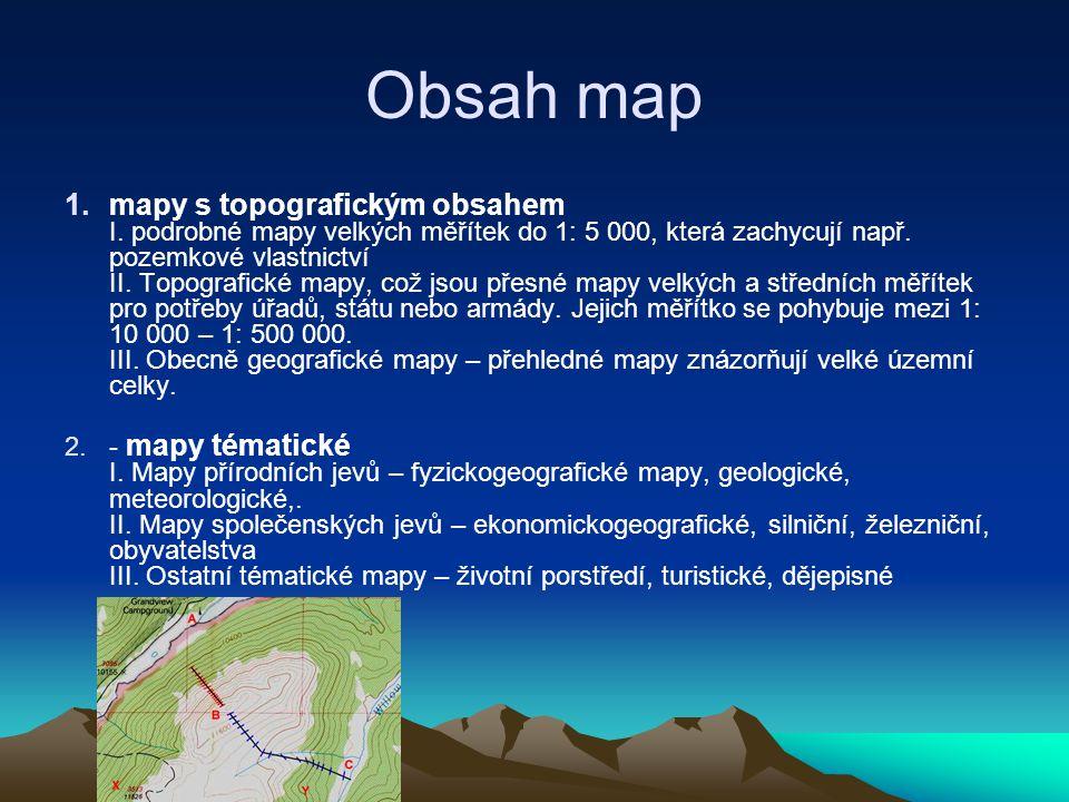 Obsah map
