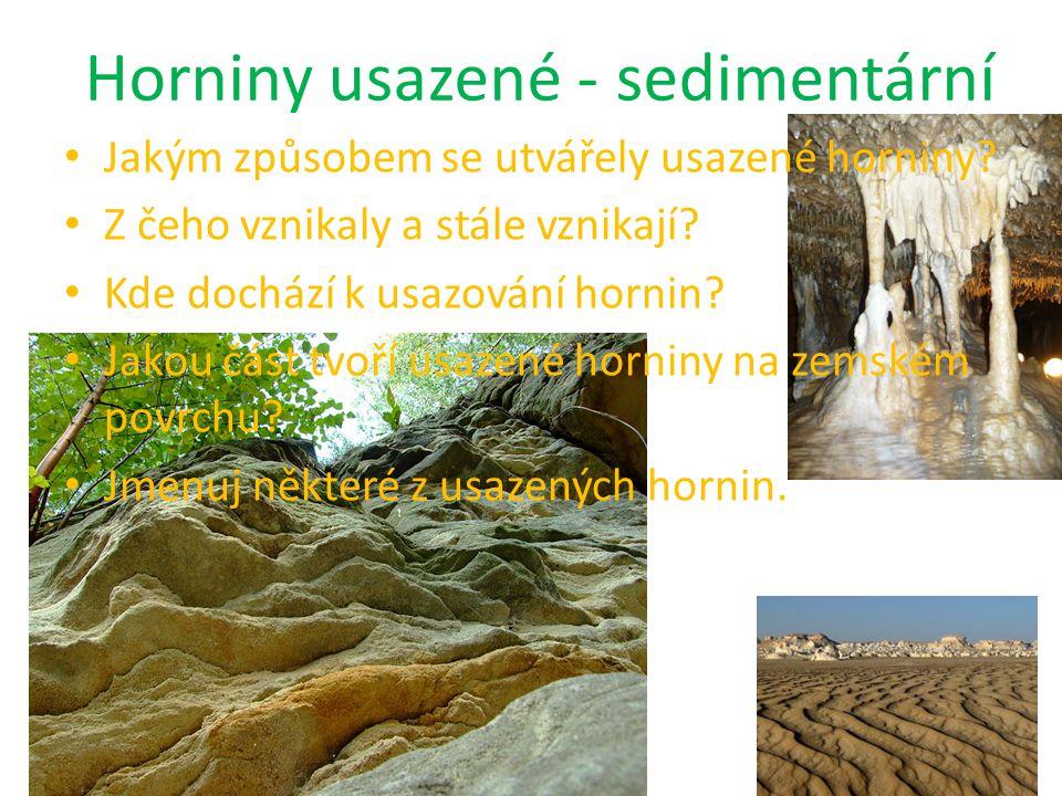 Horniny usazené - sedimentární