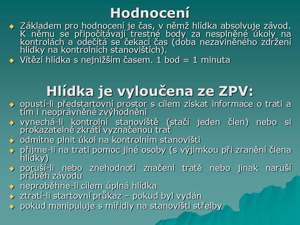 Hlídka je vyloučena ze ZPV: