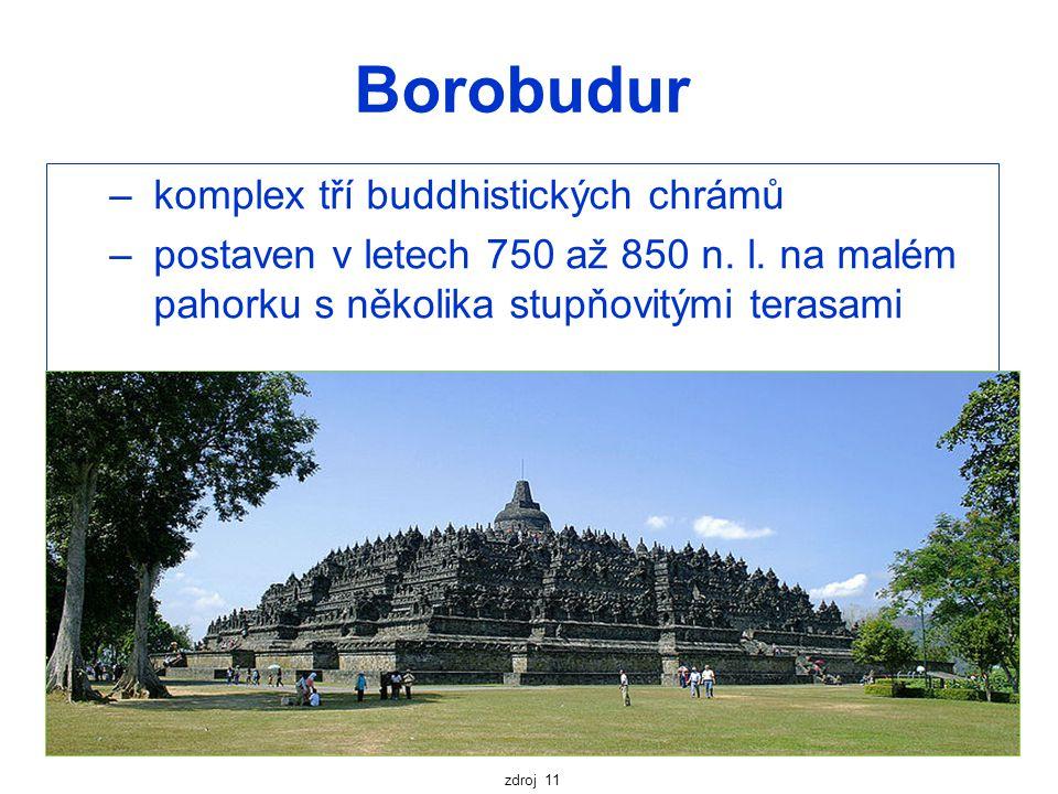 Borobudur komplex tří buddhistických chrámů