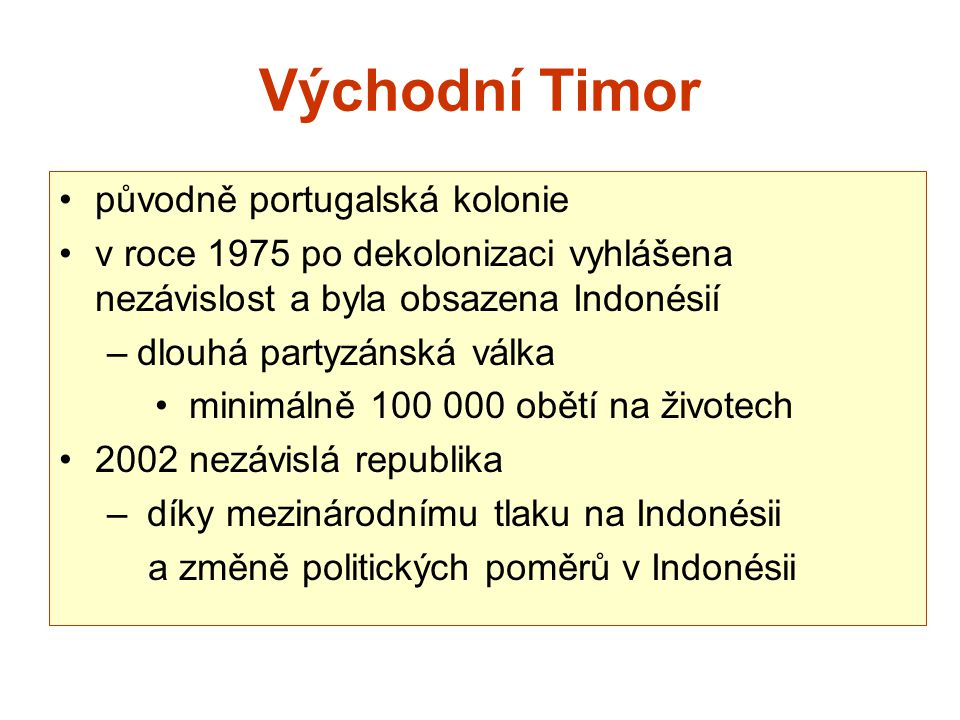 Východní Timor původně portugalská kolonie