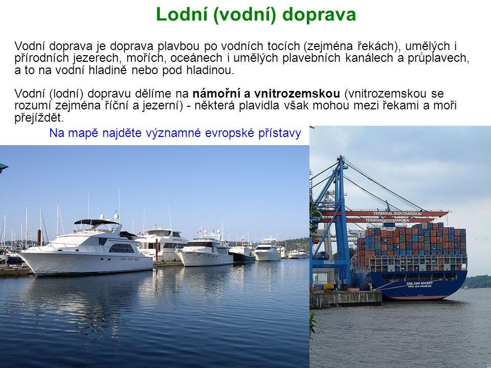 Lodní (vodní) doprava