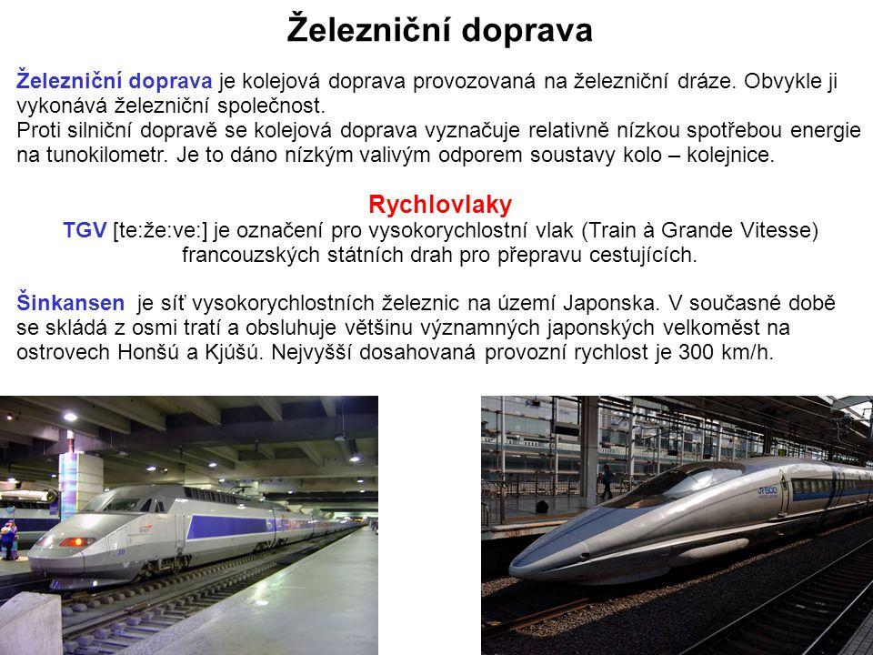 Železniční doprava Rychlovlaky