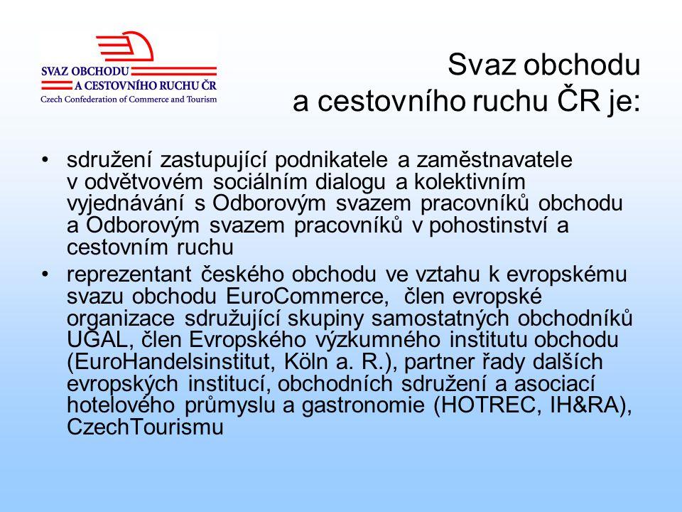 Svaz obchodu a cestovního ruchu ČR je:
