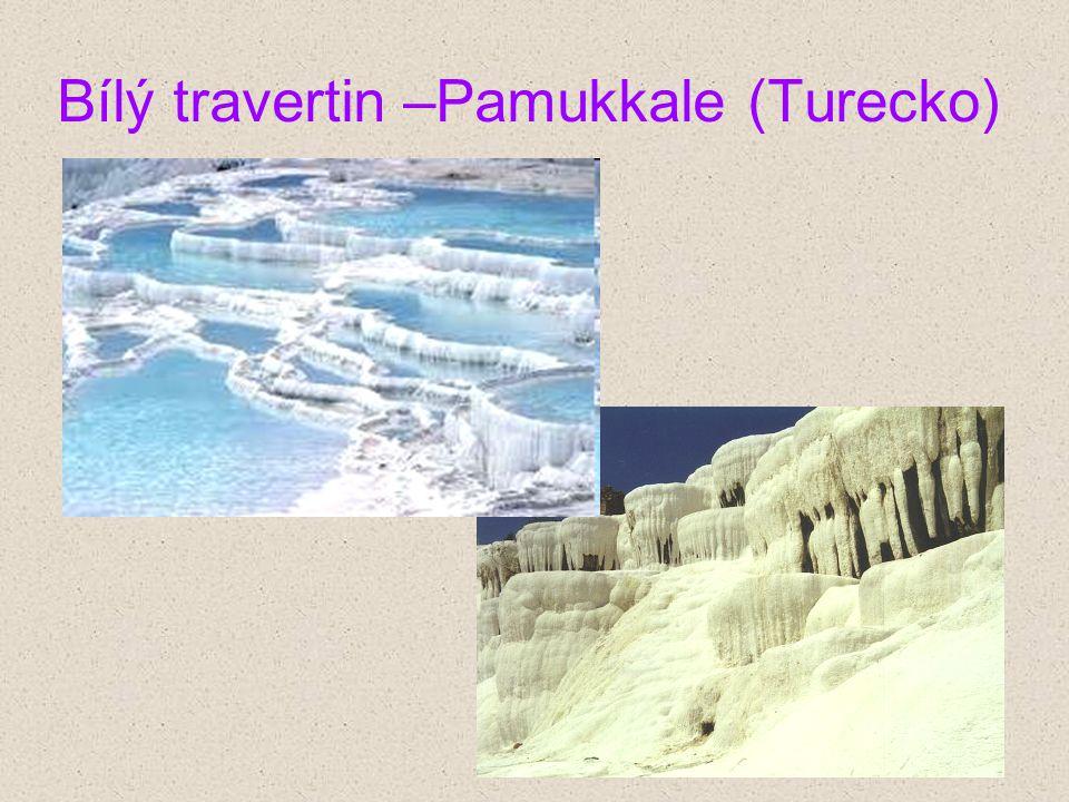 Bílý travertin –Pamukkale (Turecko)