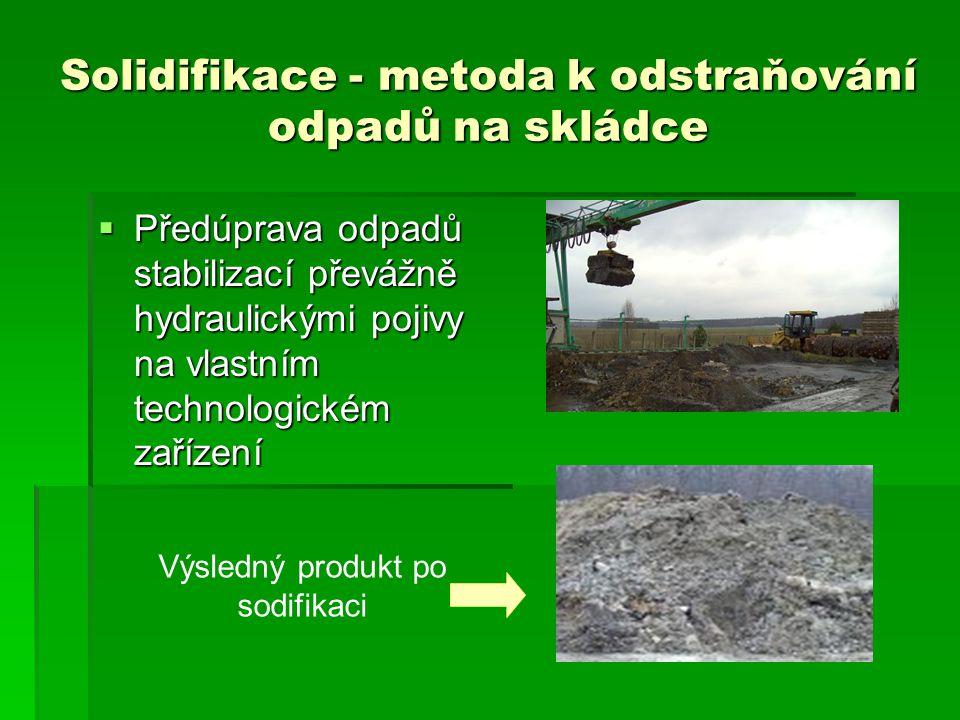 Solidifikace - metoda k odstraňování odpadů na skládce
