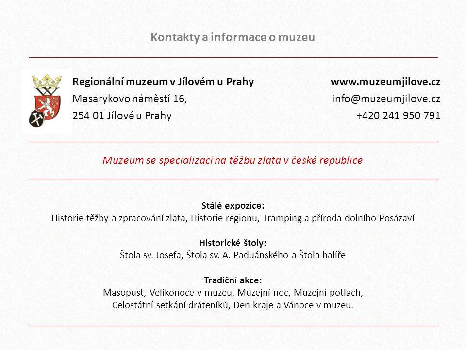 Kontakty a informace o muzeu